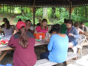 At a recent Windrush Farm outing, six Tri-Town youths, ranging from grades 7-10, joined youth from St. Ann's of Methuen to learn about each other and their different communities. Read more: http://www.wickedlocal.com/boxford/newsnow/x1383329669/Tri-Town-Council-youth-leadership-groups-meet-at-Windrush-Farm#ixzz2bTh1ehLk